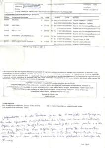 Bilhete ex-votivo escrito em Comprovante de matrícula.